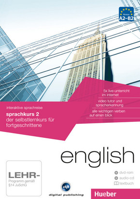 English - Interaktive Sprachreise: Sprachkurs 2, DVD-ROM m. Audio-CD u. Textbuch