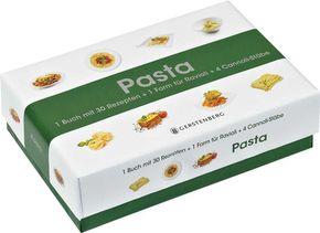 Pasta Kochbox m. 1 Form für Ravioli + 4 Cannoli-Stäbe