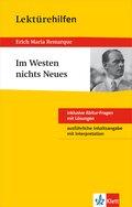 """Lektürehilfen Erich Maria Remarque """"Im Westen nichts Neues"""""""