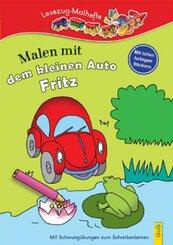 Malen mit dem kleinen Auto Fritz