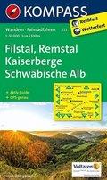 Kompass Karte Filstal, Remstal, Kaiserberge, Schwäbische Alb