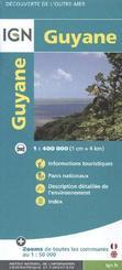 IGN Karte, Tourisme et découverte Guyane