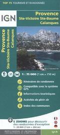 IGN Karte, Tourisme et Randonnée Provence, Ste-Victoire, Ste-Baume, Calanques