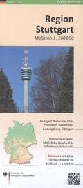 Regionalkarte Region Stuttgart