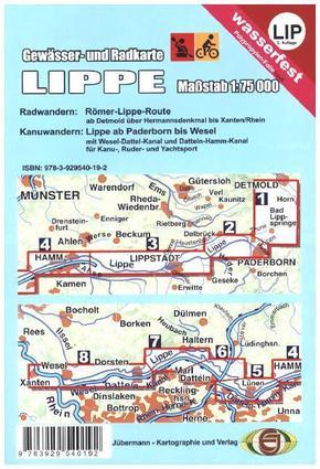 Gewässer- und Radkarte Lippe