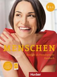 Menschen - Deutsch als Fremdsprache: Kursbuch, m. DVD-ROM; .B1/1
