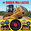 Bagger und Laster, m. Lenkrad u. Soundeffekten