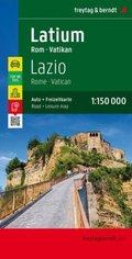 Freytag & Berndt Autokarte Latium, Rom, Vatikan; Lazio, Rome, Vatican