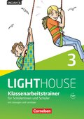English G Lighthouse, Allgemeine Ausgabe: 7. Schuljahr, Klassenarbeitstrainer für Schülerinnen und Schüler, mit Lösungen und Audios online; Bd.3