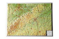 Schwäbische Alb, Reliefkarte, Klein
