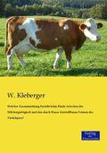 Welcher Zusammenhang besteht beim Rinde zwischen der Milchergiebigkeit und den durch Masse feststellbaren Formen des Tie