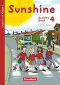Sunshine, Allgemeine Ausgabe (Neubearbeitung): 4. Schuljahr, Activity Book mit Audio-CD und Minibildkarten