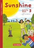 Sunshine, Allgemeine Ausgabe (Neubearbeitung): 3. Schuljahr, Activity Book mit Audio-CD und Minibildkarten