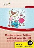 Monsterrechnen - Addition und Subtraktion bis 1000, m. CD-ROM