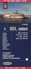 Reise Know-How Landkarte USA, Südost; USA Southeast; Étas-Unis, sud-est; EE.UU., sureste
