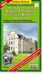Doktor Barthel Karte Havelländisches Luch, Nauen, Fehrbellin, Friesack, Ribbeck und Umgebung