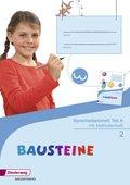Bausteine Spracharbeitshefte, Ausgabe 2015: Spracharbeitsheft 2 Teil A/B/C mit Methodenheft, 3 Hefte