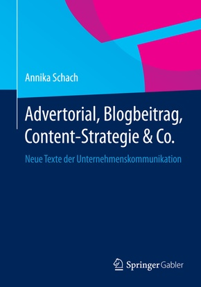 Advertorial, Blogbeitrag, Content-Strategie & Co.