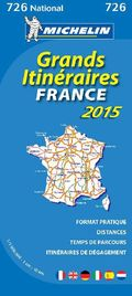 Michelin Karte Grands Itinéraires France 2015