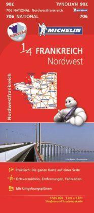 Michelin Karte Nordwestfrankreich