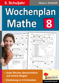 Wochenplan Mathe, 8. Schuljahr