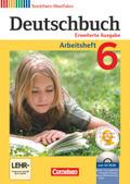 Deutschbuch, Erweiterte Ausgabe Nordrhein-Westfalen: 6. Schuljahr, Arbeitsheft mit CD-ROM
