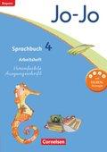 Jo-Jo Sprachbuch, Grundschule Bayern 2014: 4. Jahrgangsstufe, Arbeitsheft Vereinfachte Ausgangsschrift
