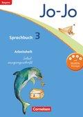 Jo-Jo Sprachbuch, Grundschule Bayern 2014: 3. Jahrgangsstufe, Arbeitsheft in Schulausgangsschrift
