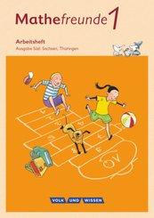 Mathefreunde, Ausgabe Süd 2015: 1. Schuljahr, Arbeitsheft mit Lernstandserhebungen
