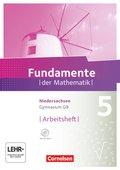 Fundamente der Mathematik, Gymnasium Niedersachsen G9: 5. Schuljahr, Arbeitsheft, m. CD-ROM