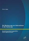 Die Besteuerung von Unternehmen in der Sanierung: Darstellung anhand ausgewählter Sanierungsinstrumente