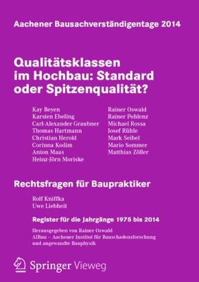 Aachener Bausachverständigentage 2014