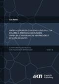 Untersuchungen zum Einlaufverhalten binärer alpha-Messinglegierungen unter Ölschmierung in Abhängigkeit des Zinkgehaltes