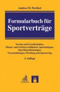 Formularbuch für Sportverträge
