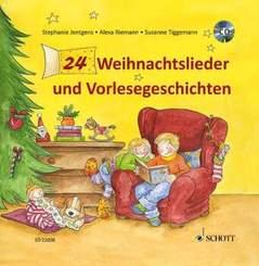 24 Weihnachtslieder und Vorlesegeschichten, m. Audio-CD