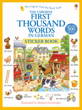 The Usborne First Thousand Words in German Sticker Book