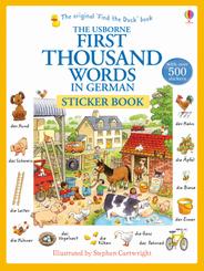 The Usborne First Thousand Words in German Sticker Book