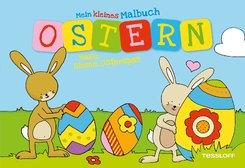 Kleines Malbuch Ostern. Hase, Blume, Osterspaß