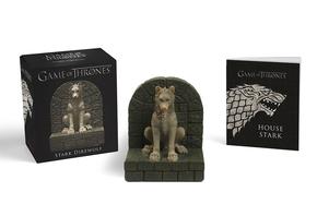 Game of Thrones: Stark Direwolf, w. miniature statue