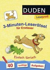 3-Minuten-Leserätsel für Erstleser: Einfach tierisch
