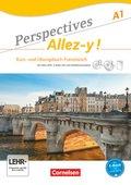 Perspectives - Allez-y!: Kurs- und Übungsbuch Französisch mit Video-DVD, 3 Audio-CDs und Vokabeltaschenbuch; A1