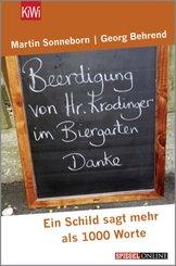 Beerdigung von Herrn Krodinger im Biergarten