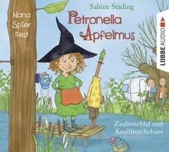 Petronella Apfelmus - Zauberschlaf und Knallfroschchaos, 2 Audio-CDs