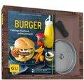 Burger-Set (Buch + Burgerpresse aus Aluguss)