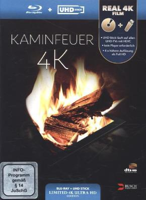 Kaminfeuer 4K (UHD Stick in Real 4K +, 1 Blu-ray (Limited Edition)