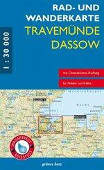 Rad- und Wanderkarte Travemünde - Dassow