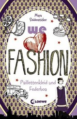 we love fashion - Paillettenkleid und Federboa