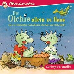 Die Olchis allein zu Haus und zwei Geschichten, Audio-CD