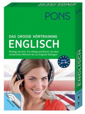 PONS Das große Hörtraining Englisch, Buch und 6 Audio+MP3-CDs