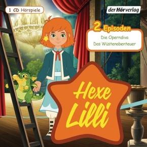 Hexe Lilli - Die Operndiva / Das Wüstenabenteuer, 1 Audio-CD